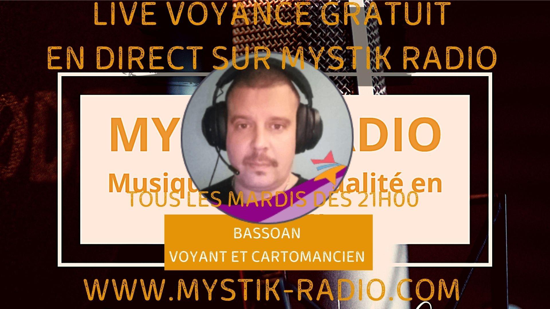 Bassoan voyant et cartomancie en live voyance gratuite sur Mystik Radio / Infinità Corse Voyance