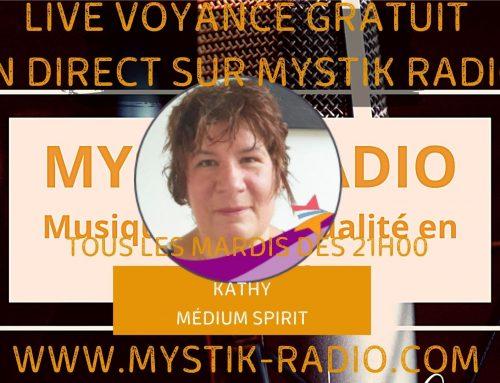 Live voyance gratuit avec Kathy médium spirit et magnétiseuse chez Infinità Corse Voyance en direct sur Mystik Radio  09.02.2021