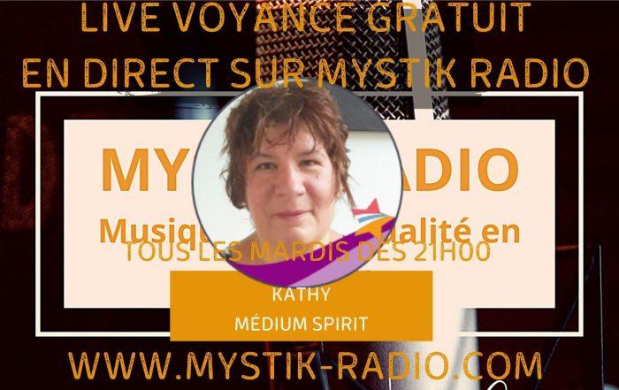 Live voyance gratuite avec Kathy médium spirit et magnétiseuse chez Infinità corse Voyance en direct sur Mystik Radio / Infinità Corse Voyance