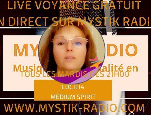 Live voyance gratuit avec Lucilia médium spirit chez Infinità Corse Voyance en direct sur Mystik Radio 23.02.2021
