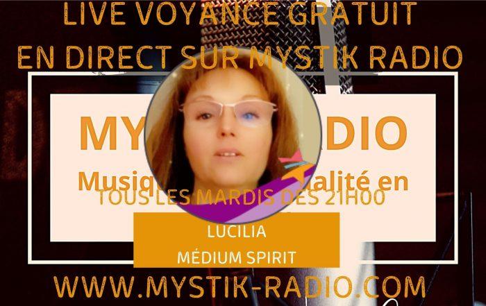 Live voyance gratuite avec Lucilia médium spirit chez Infinità Corse Voyance en direct sur MYstik Radio