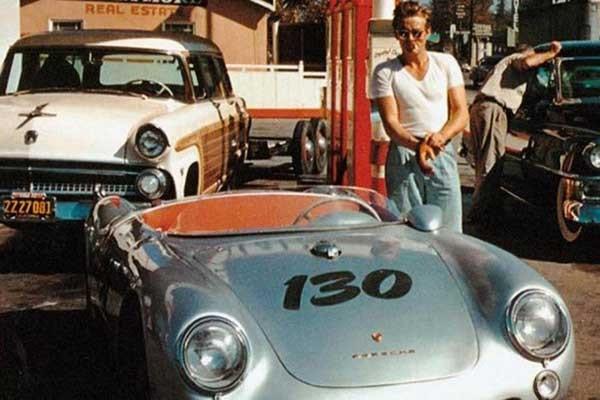 James Dean et sa Porsche