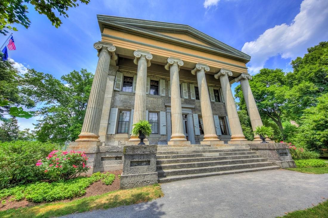 Le Baker Mansion érigée par Elias Baker, père d'Anna Baker