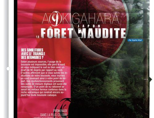 La mystérieuse forêt d'Aokigahara pour le magazine le «Monde Inconnu» Février 2021 par Sophie Vitali