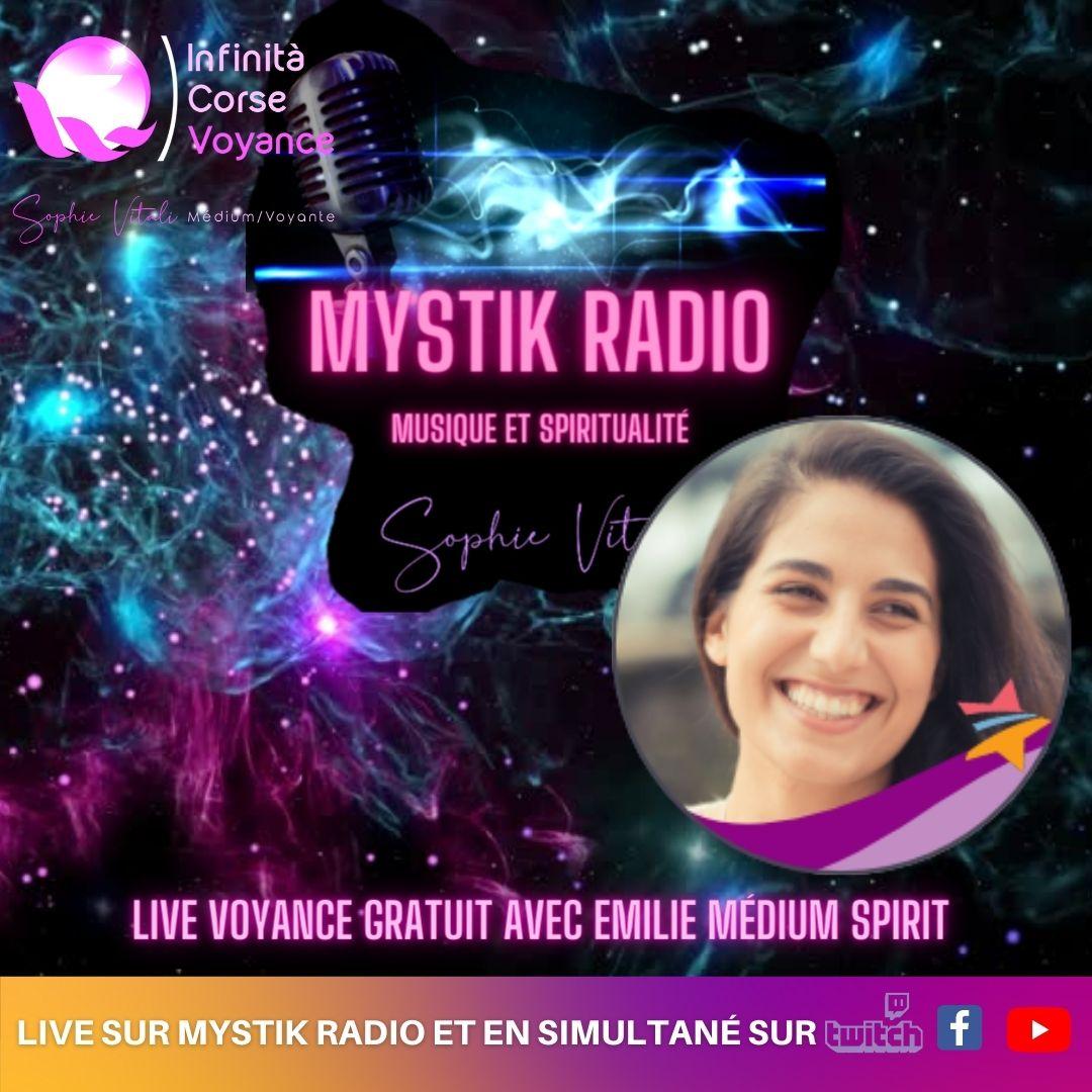 Voyance gratuite en ligne avec Emilie médium spirit chez Infinità Corse Voyance / Sophie Vitali