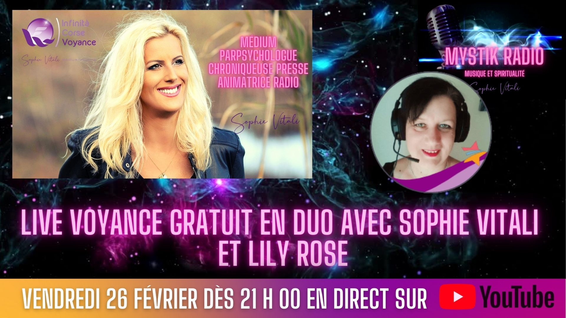 Live voyance gratuit en direct sur YouTube avec Sophie Vitali