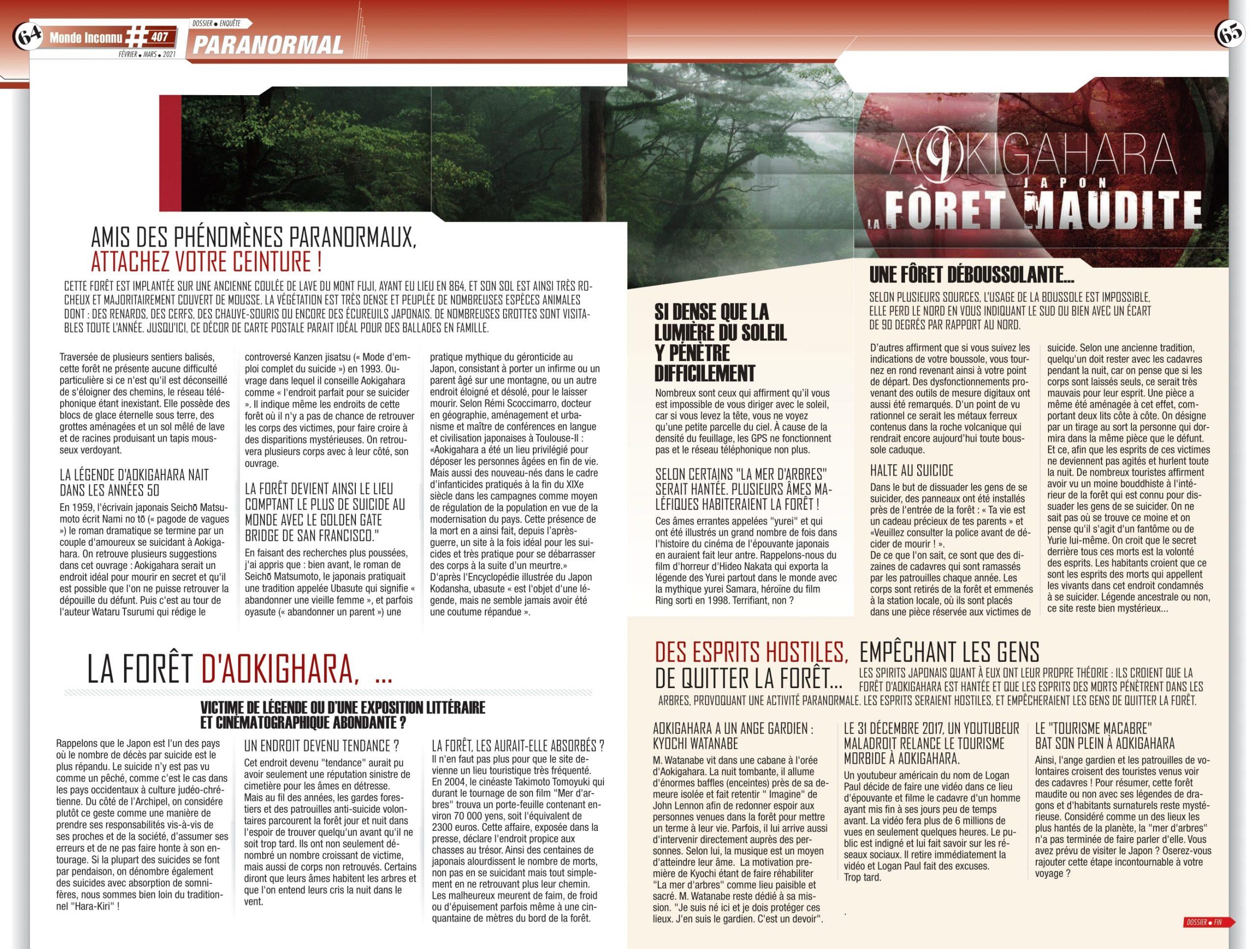 Sophie Vitali parapsychologue pour le dossier paranormal du magazine Monde Inconnu