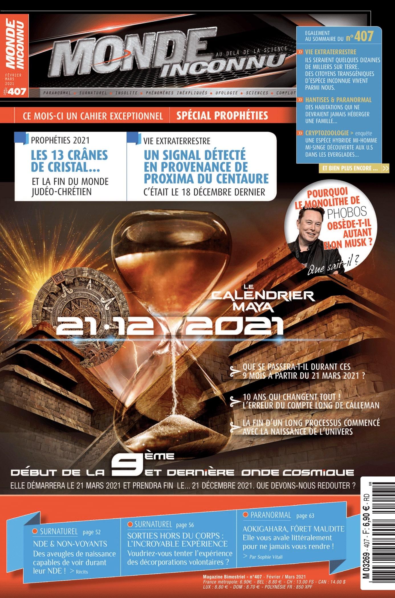 Sophie Vitali chroniqueuse presse pour le magazine Monde Inconnu février 2021 / Infinità Corse Voyance