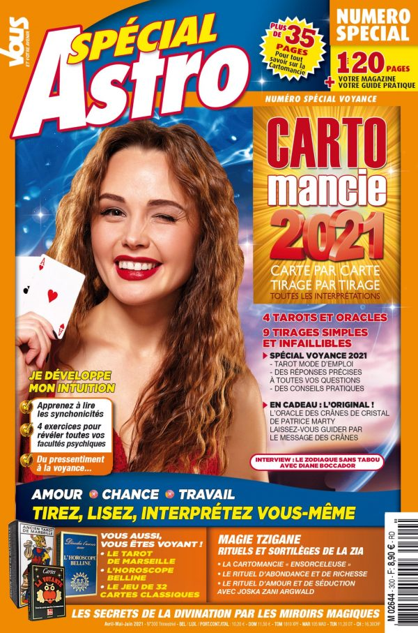 La cartomancie est art divinatoire accessible à tous par Sophie Vitali pour le magazine Vous et votre avenir avril 2021