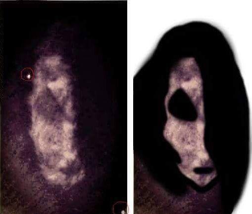 Photo du bouc diabolique prise dans la maison hantée The Cage