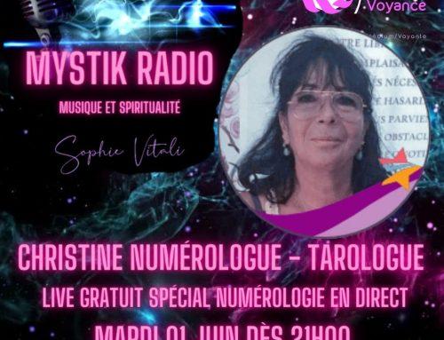 Live spécial numérologie avec Christine en direct sur Mystik Radio  01.06.2021