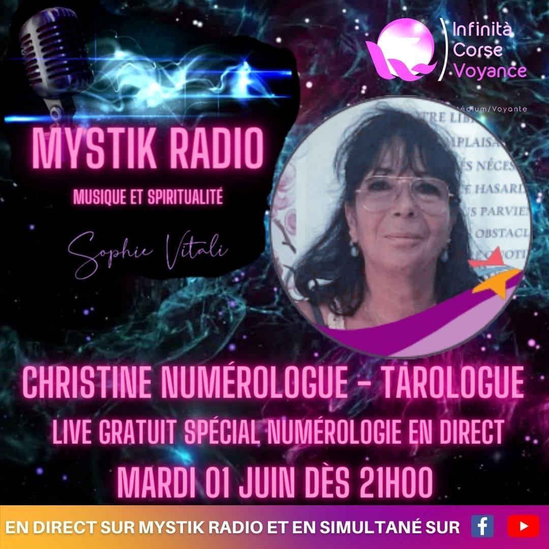 Live spécial numérologie avec Christine tarologue et numérologue chez Infinità Corse Voyance