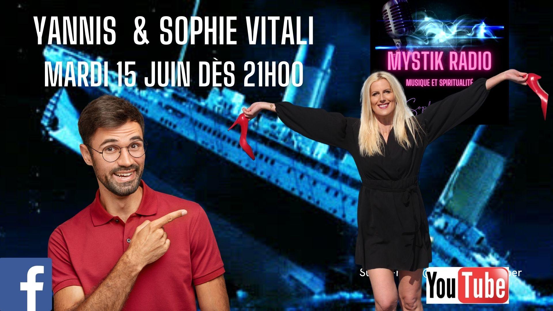 Sophie Vitali & Yannis répondent à vos questions en direct et gratuitement pendant le live voyance gratuite par téléphone le mardi 15 juin 2021