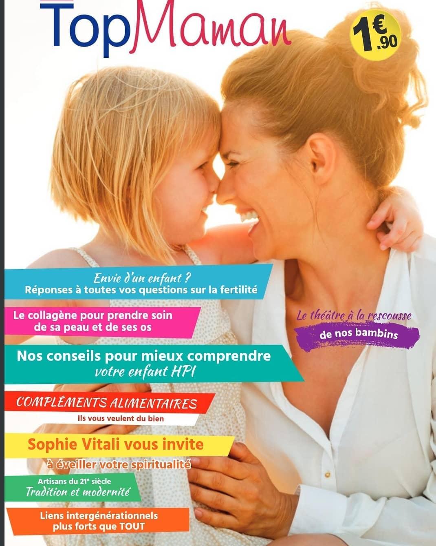 Sophie Vitali médium et voyante corse en interview dans le nouveau numéro du magazine Top Maman de juin 2021