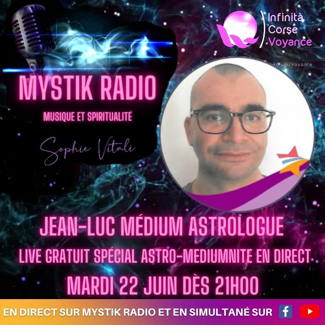 Live voyance par téléphone spécial astrologie et médiumnité avec Jean-Luc