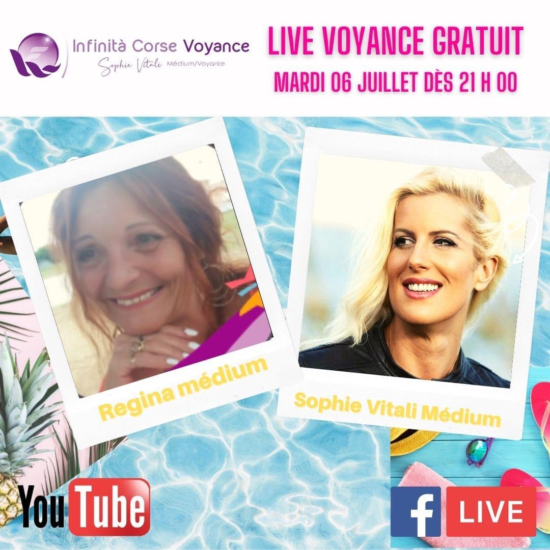 Voyance gratuite par téléphone avec Sophie Vitali & Régina médiums 06.07.2021
