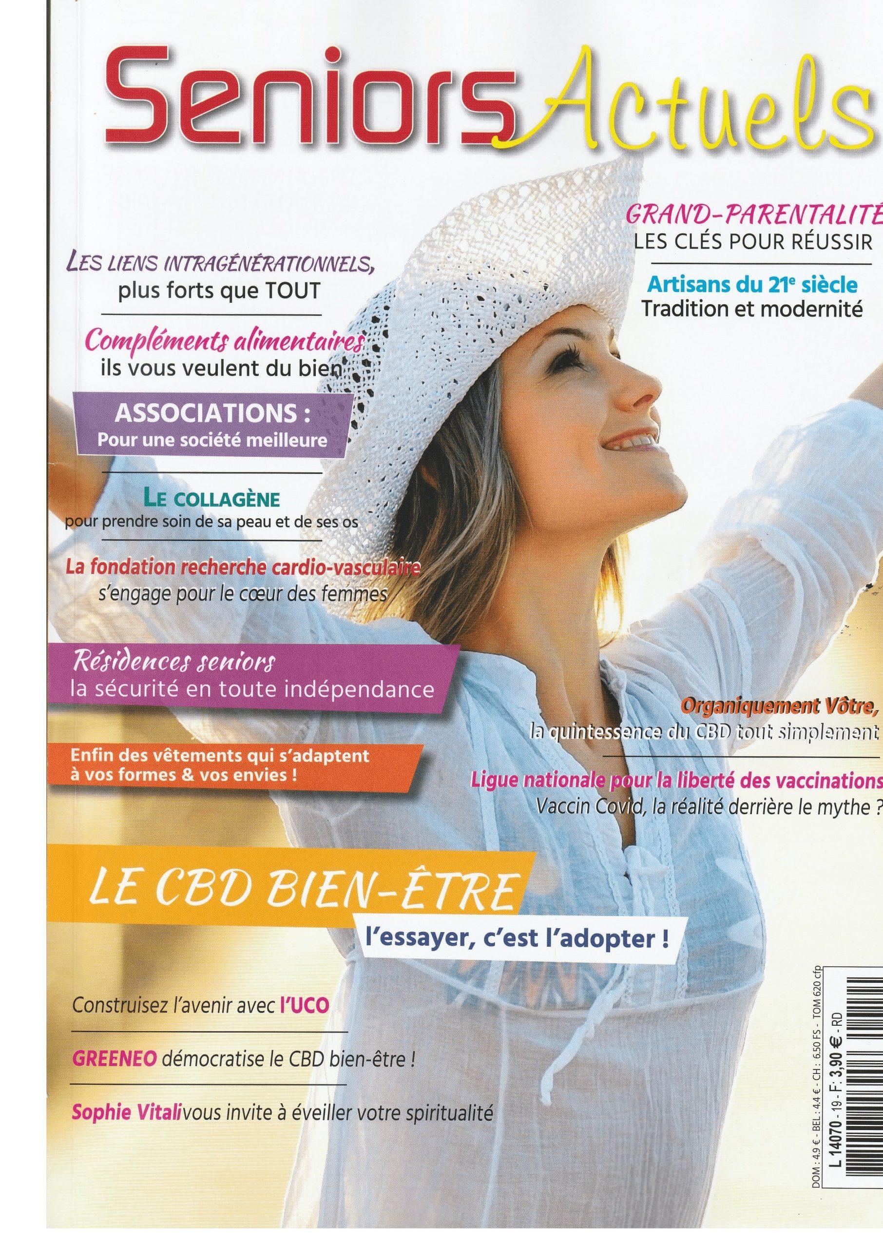 Sophie Vitali médium et voyante corse en interview dans le magazine Séniors Actuels juin 2021
