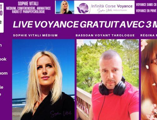 Live voyance gratuit avec Sophie Vitali, Bassoan et Régina sur Facebook et YouTube ! 18.07.2021