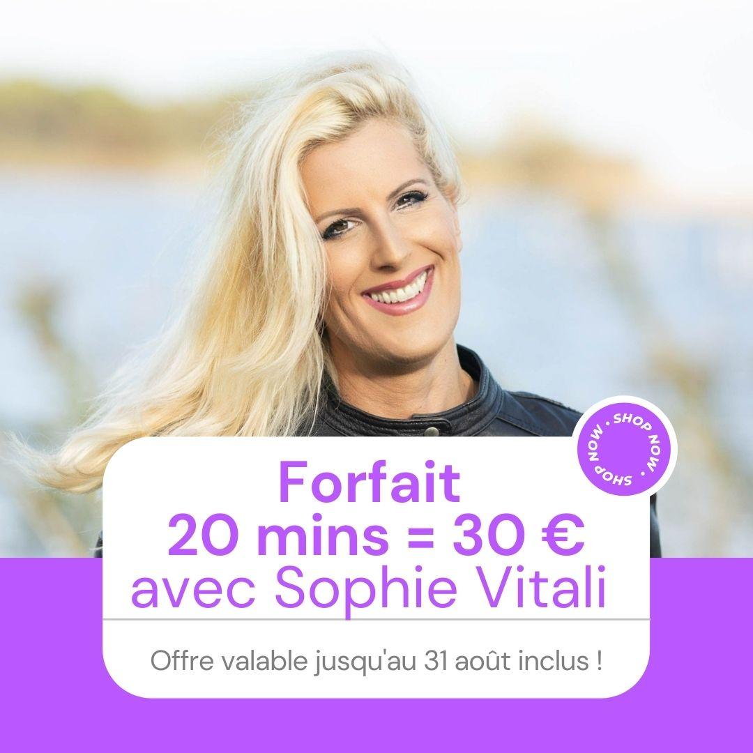 Voyance par téléphone en privé avec Sophie Vitali célèbre médium, parapsychologie, voyante, chroniqueuse presse et animatrice radio.