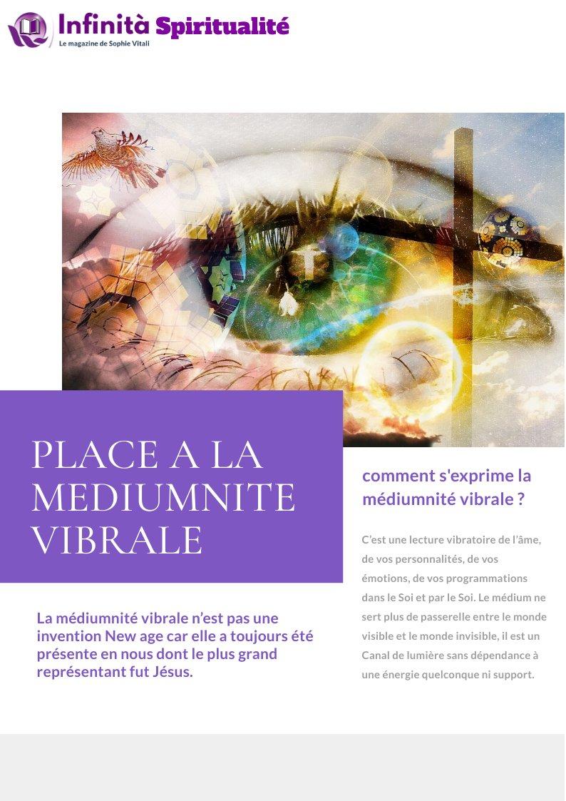 La médiumnité vibrale par Rose médium spirituelle pour la magazine Infinità de Sophie Vitali