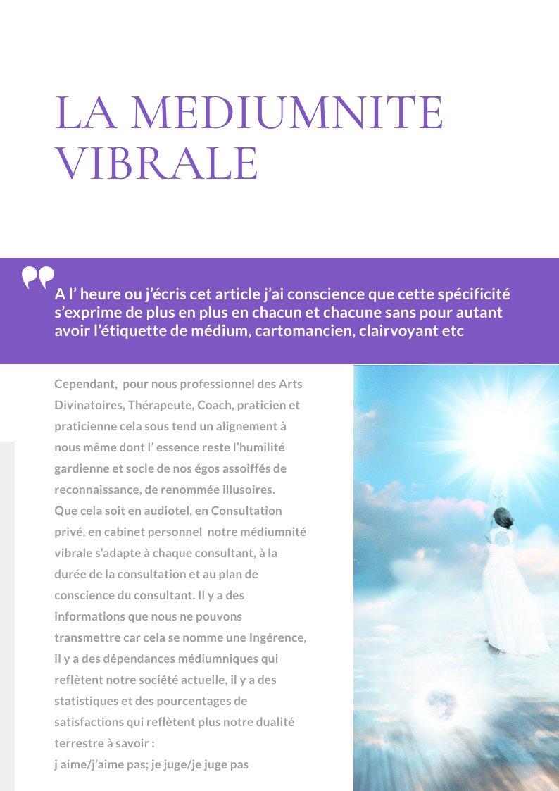La médiumnité vibrale / Le blog de Sophie Vitali célèbre médium