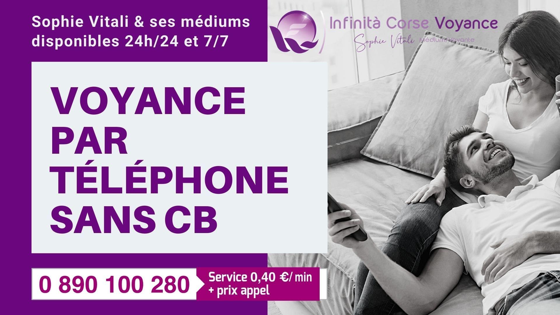 voyance par téléphone sans CB avec Sophie Vitali et ses voyants à seulement 0.40 € la minute.