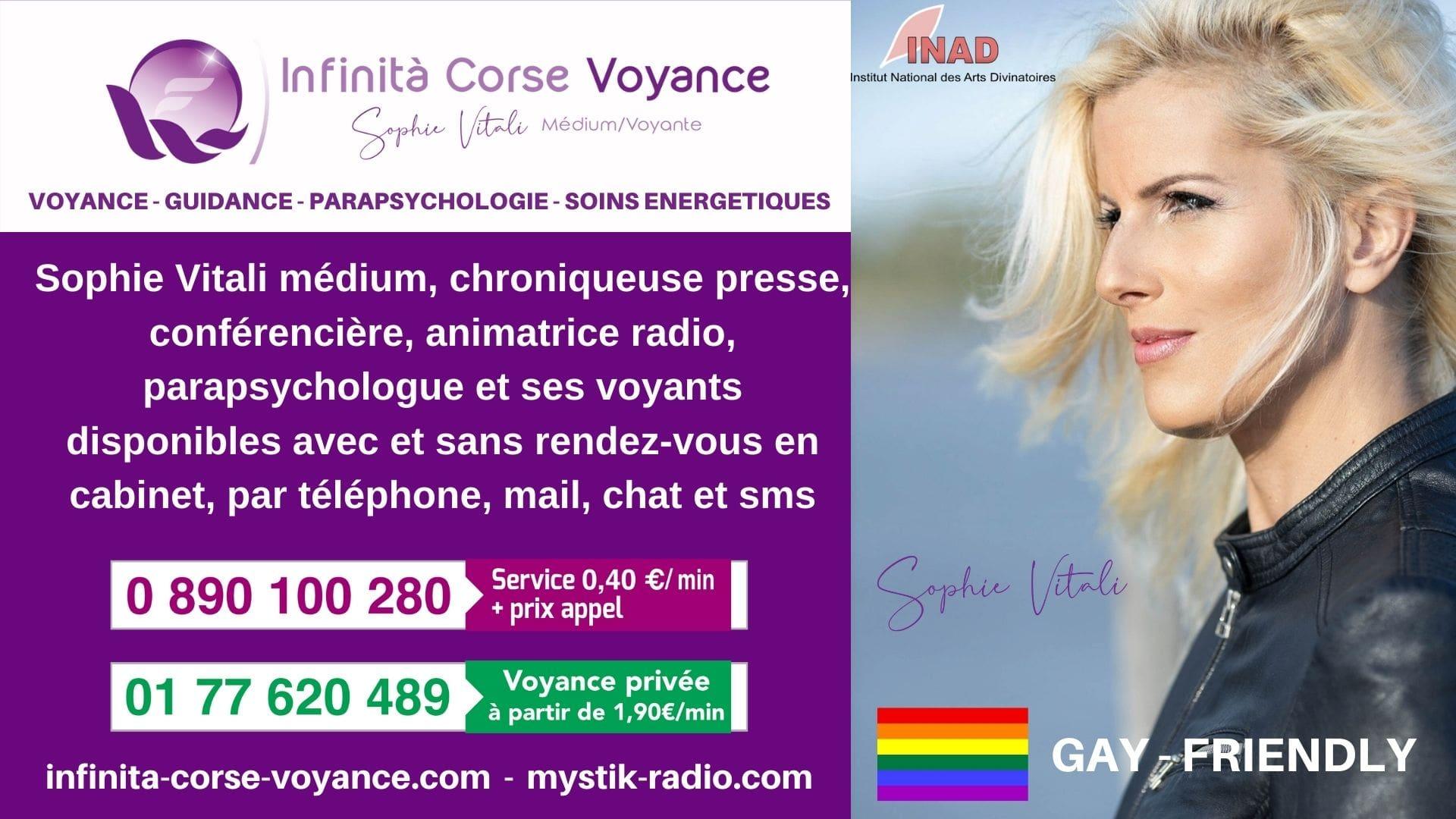Voyance sans CB / Audiotel avec Sophie Vitali célèbre voyante et ses médiums à 0.34 € la minute !