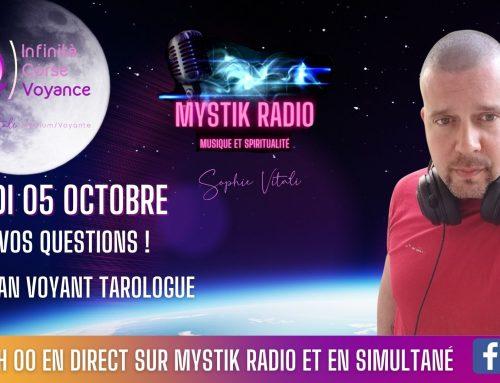 Bassoan voyant et tarologue en direct pendant le live voyance gratuite par téléphone sur Mystik Radio  05.10.2021