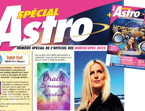 Votre évolution spirituelle pour l'année 2022 avec Sophie Vitali dans le magazine Vous et votre avenir / Octobre 2021