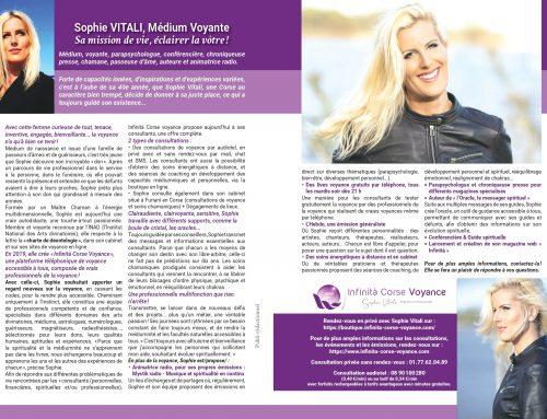 Le magazine Séniors Actuels parle de Sophie Vitali célèbre médium dans son dossier spécial voyance  01.09.2021
