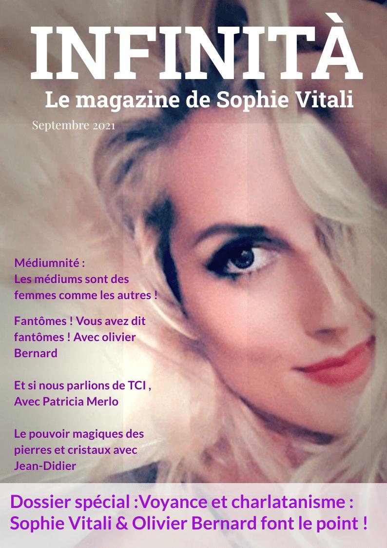 Infinita, le magazine de Sophie Vitali septembre 2021 disponible gratuitement au téléchargement