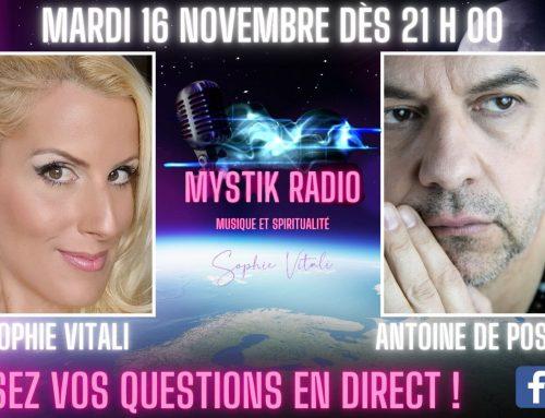 Sophie Vitali & Antoine de Postel répondent à vos questions en direct sur Facebook et YouTube ! 16.11.2021